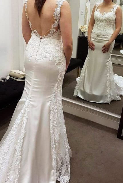 Pronovias – Size 12 Fishtail dress | Second hand wedding dresses Reservoir - 3