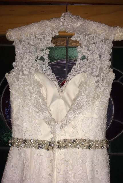 Allure Bridals – Size 8 Fishtail dress | Second hand wedding dresses Travancore - 4