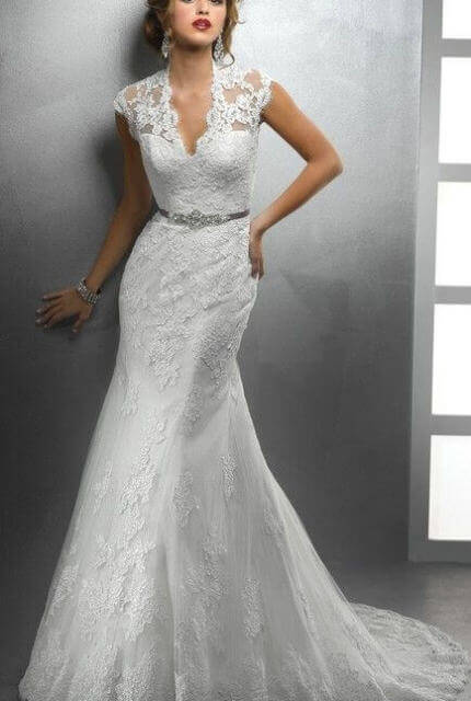 Allure Bridals – Size 8 Fishtail dress | Second hand wedding dresses Travancore - 2
