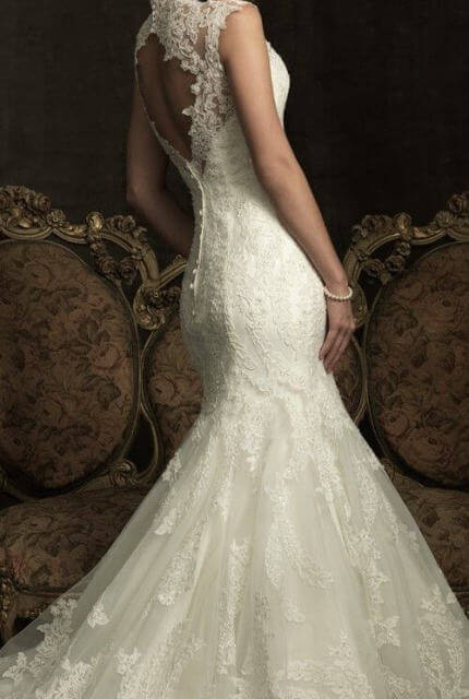 Allure Bridals – Size 8 Fishtail dress | Second hand wedding dresses Travancore - Size 8