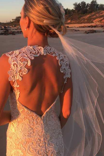 Hobnob Bridal – Size 8 Fishtail dress | Second hand wedding dresses Broome - 4