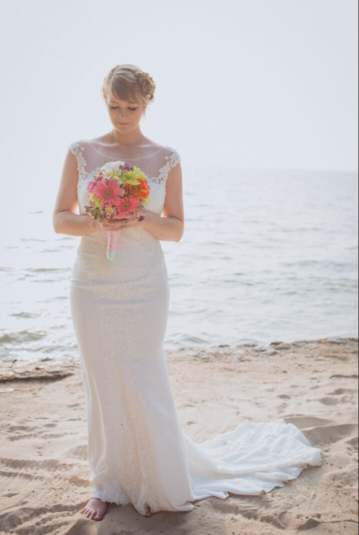 Bernadette Pimenta Couture – Size 12 Fit and Flare dress | Second hand wedding dresses St Kilda East - Size 12