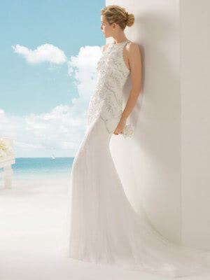 Rosa Clara – Size 10 Fit and Flare dress | Second hand wedding dresses Hawthorn - 5