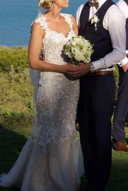 Hobnob Bridal – Size 8 Fishtail dress | Second hand wedding dresses Broome - 5