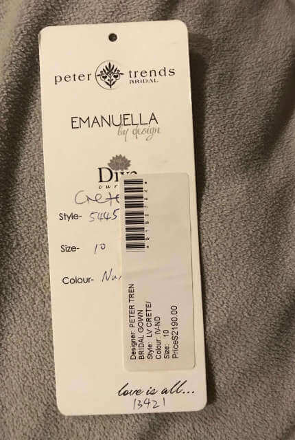 Peter Trends – Size 10 Fit and Flare dress | Second hand wedding dresses Camberwell - 5