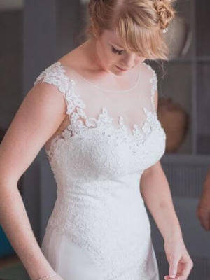 Bernadette Pimenta Couture – Size 12 Fit and Flare dress | Second hand wedding dresses St Kilda East - 2