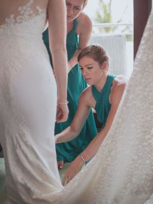 Bernadette Pimenta Couture – Size 12 Fit and Flare dress | Second hand wedding dresses St Kilda East - 5