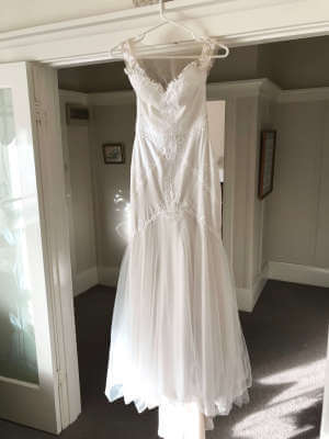 Peter Trends – Size 10 Fit and Flare dress   Second hand wedding dresses Camberwell - 3