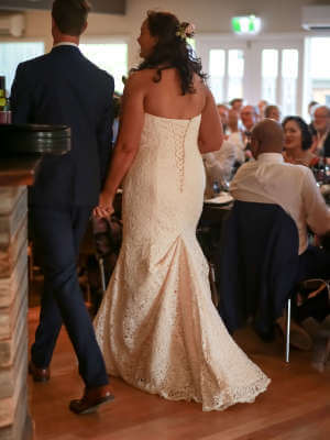 Mia Solano – Size 16 Strapless dress | Second hand wedding dresses Glen Huntly - 7