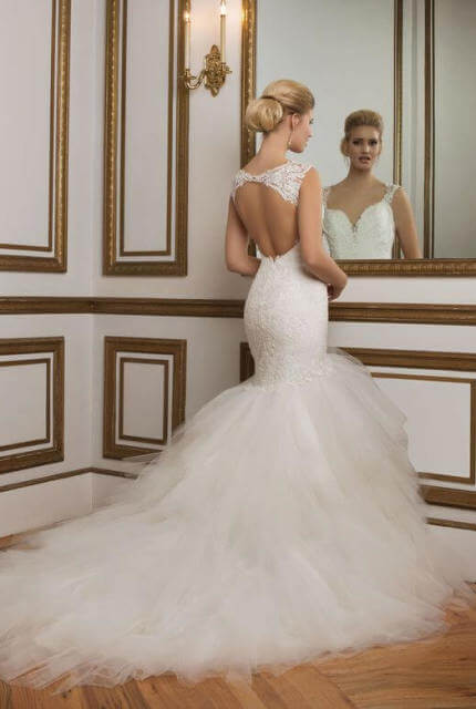 Justin Alexander – Size 14 Fit and Flare dress | Second hand wedding dresses Perth - 2