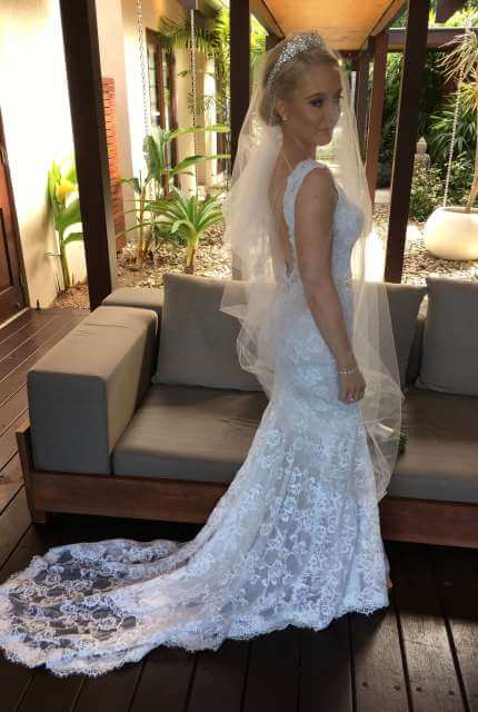 Berta – Size 8 Fit and Flare dress | Second hand wedding dresses Ballarat - 6