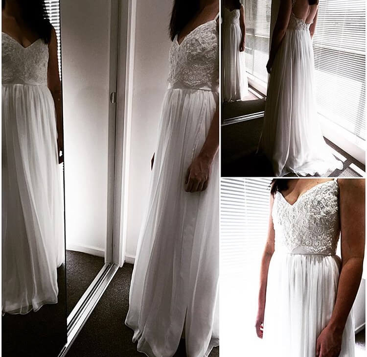 Vasiliki Couture – Size 10 A-Line dress | Second hand wedding dresses Elsternwick - Size 10