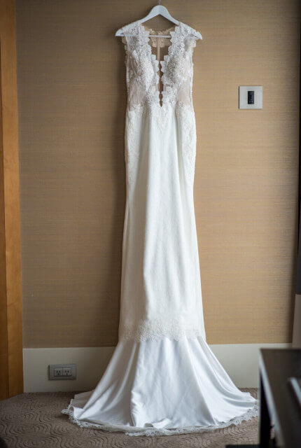 Ines Di Santo – Size 12 Trumpet dress | Second hand wedding dresses Port Melbourne - 3