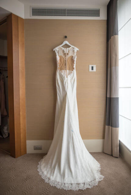 Ines Di Santo – Size 12 Trumpet dress | Second hand wedding dresses Port Melbourne - 4