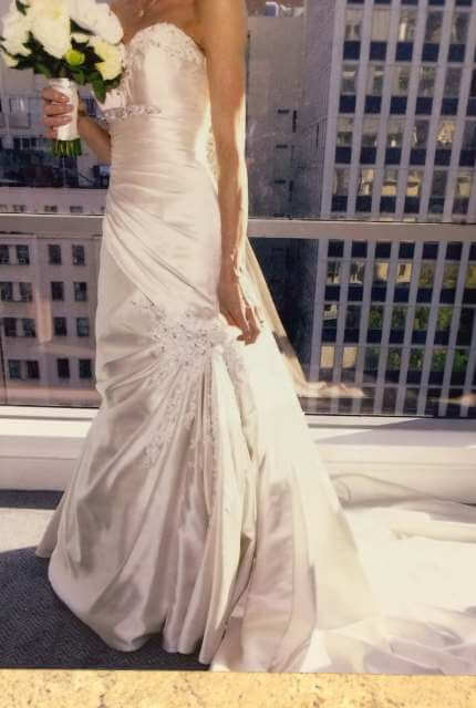 Sophia Tolli – Size 6 Fit and Flare dress   Second hand wedding dresses Kilsyth - Size 6