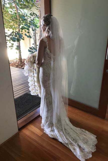 Peter Trends – Size 10 Fishtail dress | Second hand wedding dresses South Perth - 4
