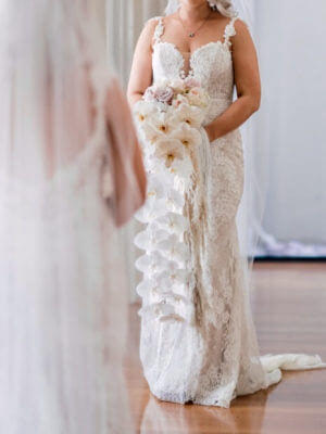 Peter Trends – Size 10 Fishtail dress | Second hand wedding dresses South Perth - 3