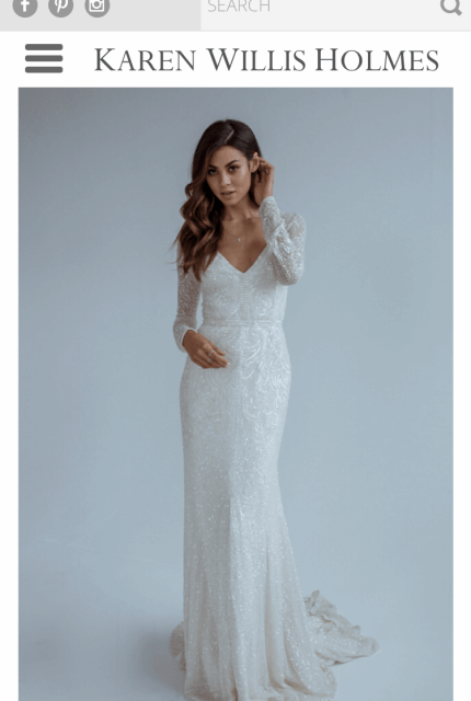 Karen Willis Holmes – Size 8 A-Line dress | Second hand wedding dresses Bangholme - 5