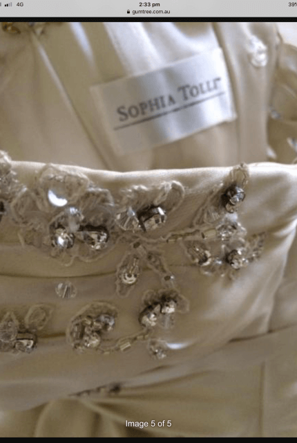 Sophia Tolli – Size 6 Fit and Flare dress | Second hand wedding dresses Kilsyth - 6