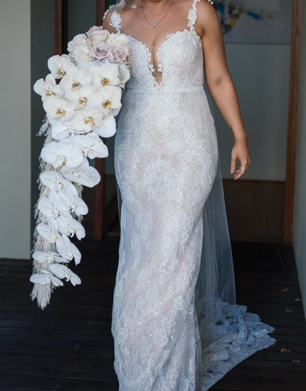 Peter Trends – Size 10 Fishtail dress | Second hand wedding dresses South Perth - 2