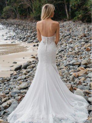 Brides Desire – Size 12 Strapless dress | Second hand wedding dresses Menai - 5