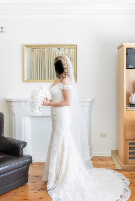Christina Rossi – Size 12 Fit and Flare dress   Second hand wedding dresses Elizabeth Bay - Size 12