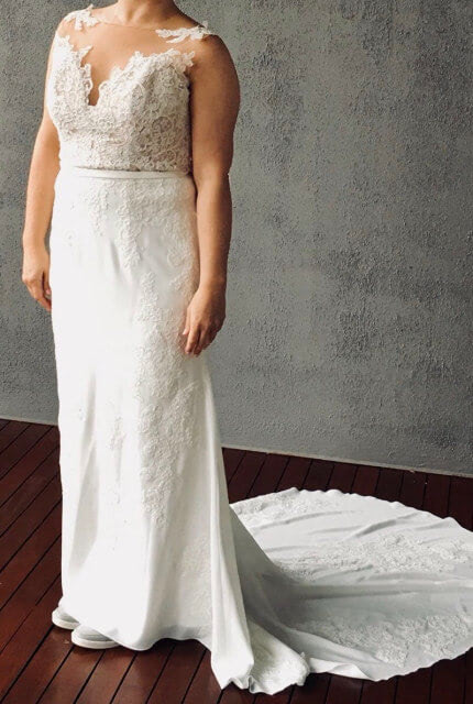 Mori Lee – Size 12 A-Line dress | Second hand wedding dresses Sydney - Size 12