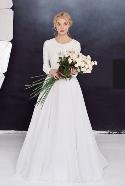 Milamira – Size 10 A-Line dress | Second hand wedding dresses Bellevue Hill - 5