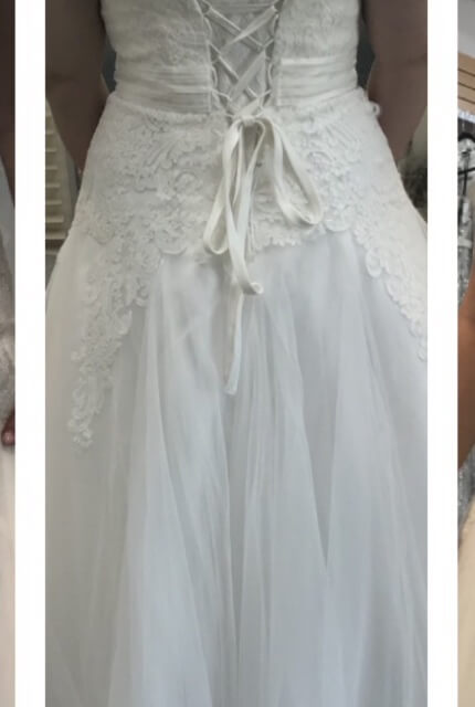 Brides By Design – Size 14 A-Line dress | Second hand wedding dresses Margate - 3
