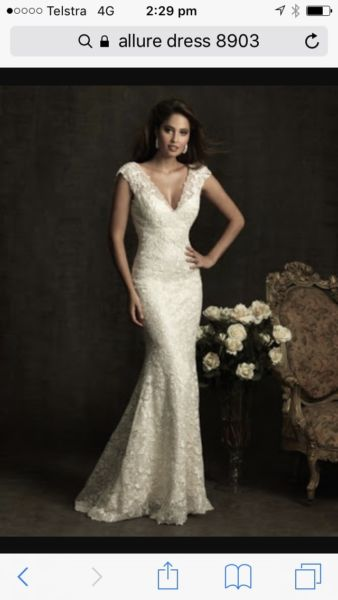Allure Bridals – Size 8 Fishtail dress | Second hand wedding dresses stockton - Size 8