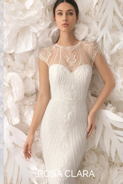 Rosa Clara – Size 16 Sheath dress | Second hand wedding dresses Southbank - Size 14