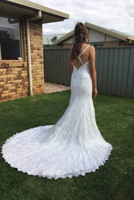 Valentine – Size 12 A-Line dress | Second hand wedding dresses Toowoomba - 3