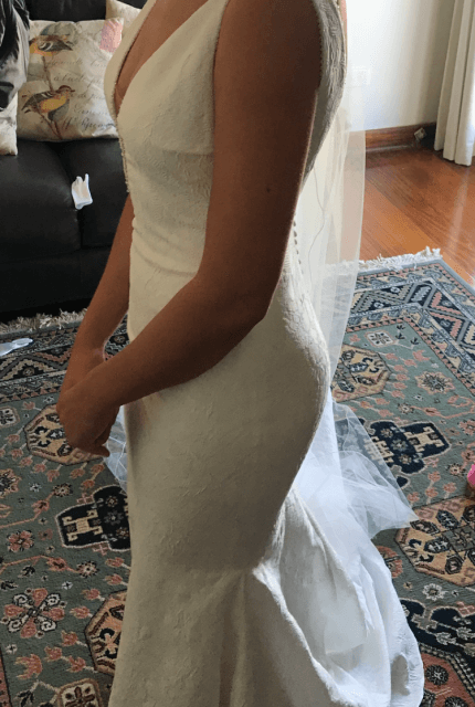 Pronovias – Size 8 Fit and Flare dress | Second hand wedding dresses Ferntree Gully - 5