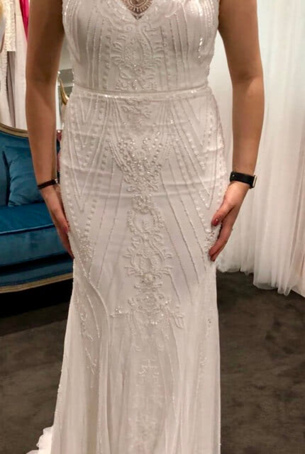 Rosa Clara – Size 16 Sheath dress | Second hand wedding dresses Southbank - 5
