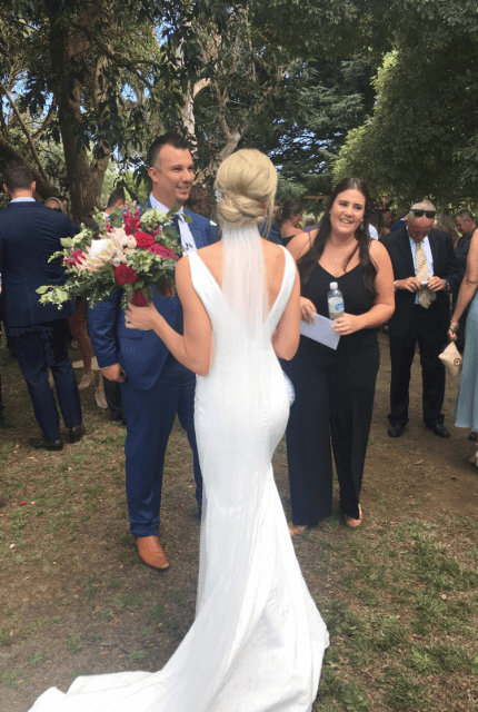 Pronovias – Size 8 Fit and Flare dress | Second hand wedding dresses Ferntree Gully - 4
