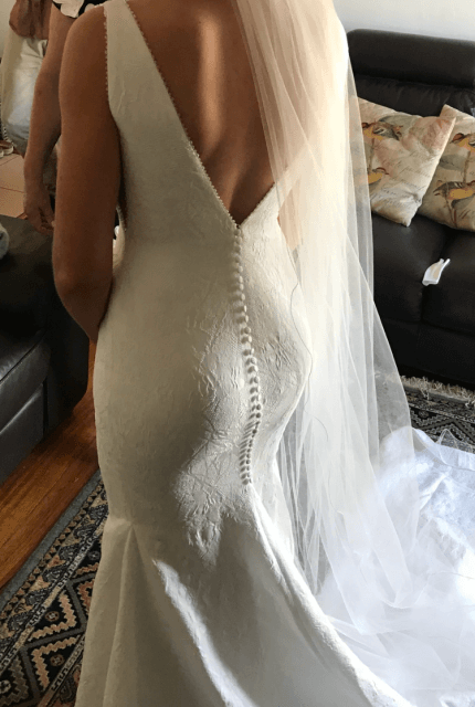Pronovias – Size 8 Fit and Flare dress | Second hand wedding dresses Ferntree Gully - 6