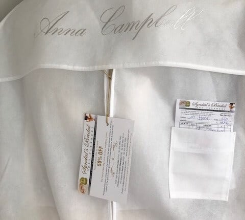Anna Campbell – Size 10 Slip dress | Second hand wedding dresses Mitcham - 4