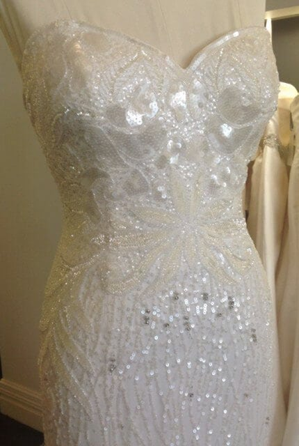 Aire Barcelona – Size 8 Strapless dress | Second hand wedding dresses DIANELLA - 1