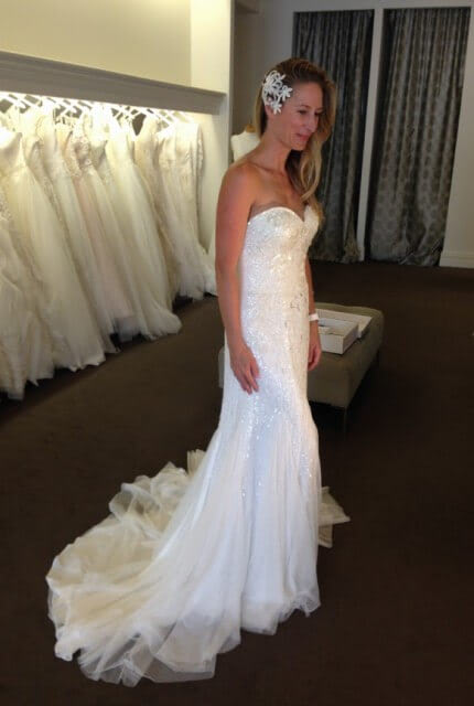 Aire Barcelona – Size 8 Strapless dress | Second hand wedding dresses DIANELLA - 5