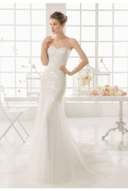 Aire Barcelona – Size 8 Strapless dress | Second hand wedding dresses DIANELLA - 2