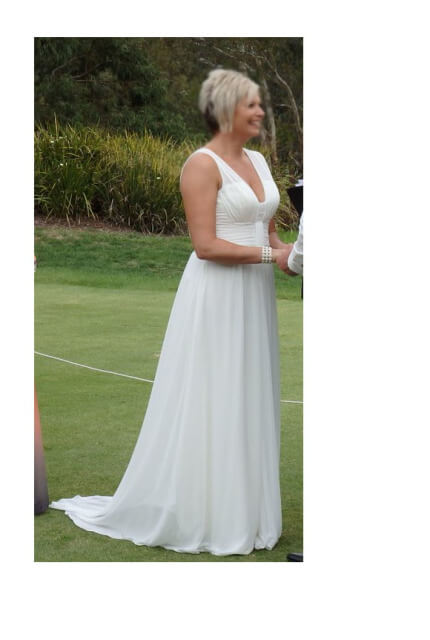 Bespoke / Other – Size 12 Sheath dress | Second hand wedding dresses croydon - 3