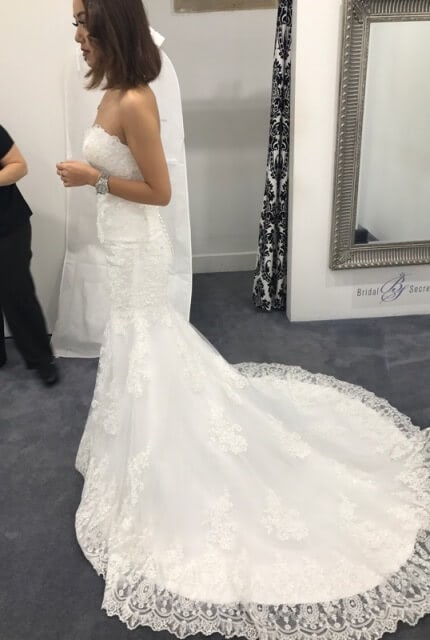 Bridal Secrets – Size 6 Fishtail dress | Second hand wedding dresses Green Valley - Size 6