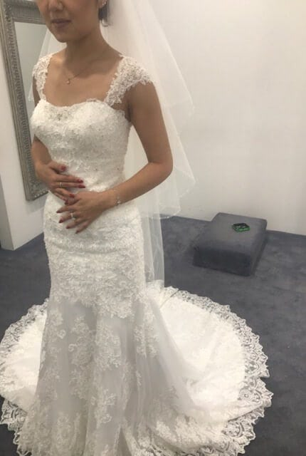 Bridal Secrets – Size 6 Fishtail dress | Second hand wedding dresses Green Valley - 3