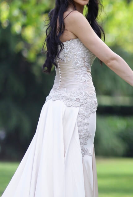 Vincenzo Pintaudi Couture – Size 6 Strapless dress | Second hand wedding dresses Glen Waverley - 4