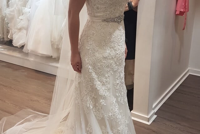 Kylie J Bridal – Size 6 Fit and Flare dress | Second hand wedding dresses Chadstone - 8