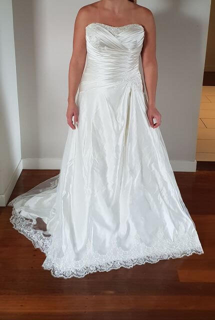 Bespoke / Other – Size 14 A-Line dress | Second hand wedding dresses Wavell Heights - 4