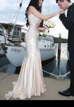 Vincenzo Pintaudi Couture – Size 6 Strapless dress | Second hand wedding dresses Glen Waverley - 7