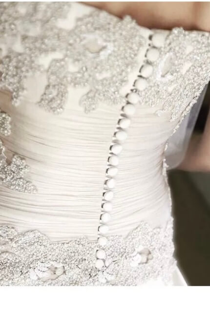 Vincenzo Pintaudi Couture – Size 6 Strapless dress | Second hand wedding dresses Glen Waverley - 2