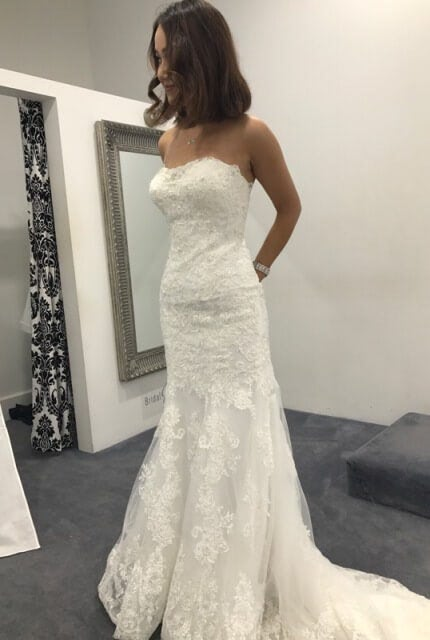 Bridal Secrets – Size 6 Fishtail dress | Second hand wedding dresses Green Valley - 2