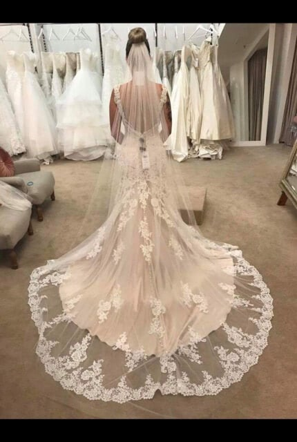 Madison James – Size 8 Fit and Flare dress | Second hand wedding dresses Potts Point - Size 8